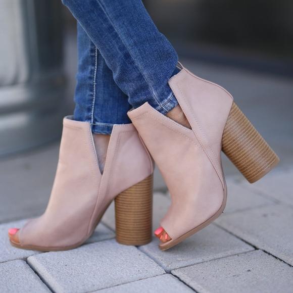 Shoes - JAXTON Peep Toe Bootie